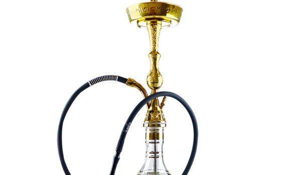 Vodná fajka Tradicional 72 cm zlatá